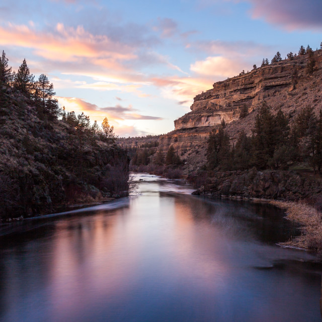 """River Canyon Sunset"" stock image"
