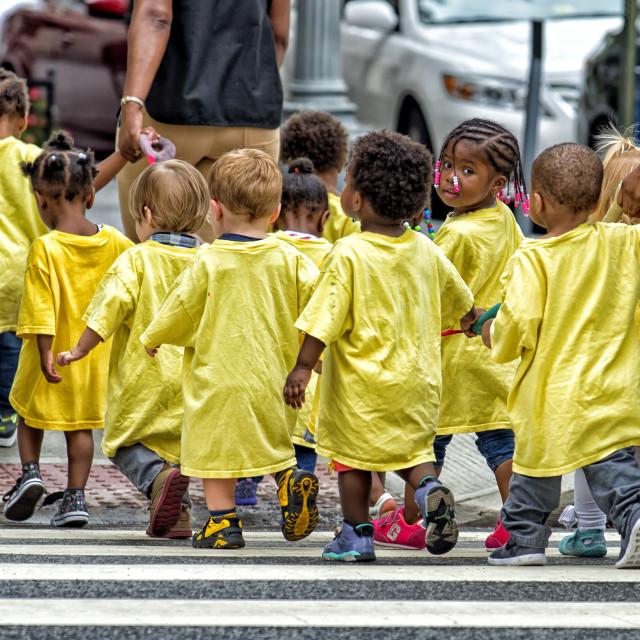 """""""Curiosity: Preschool Children"""" stock image"""
