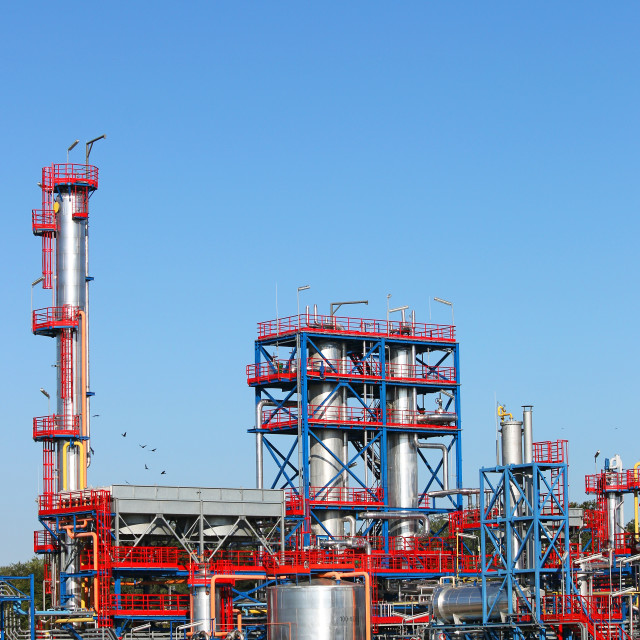 """new petrochemical plant refinery industry"" stock image"