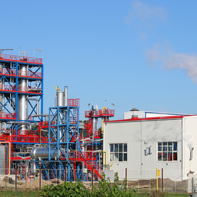 """""""petrochemical plant refinery industry"""" stock image"""