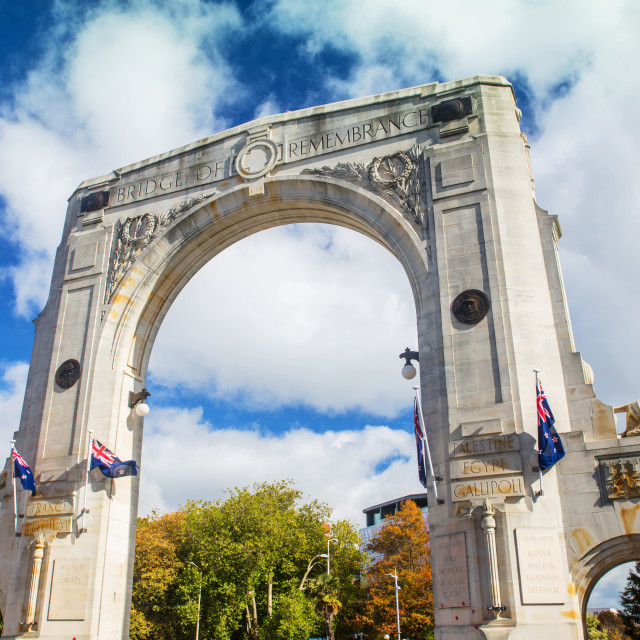 """Bridge of Remembrance at day"" stock image"