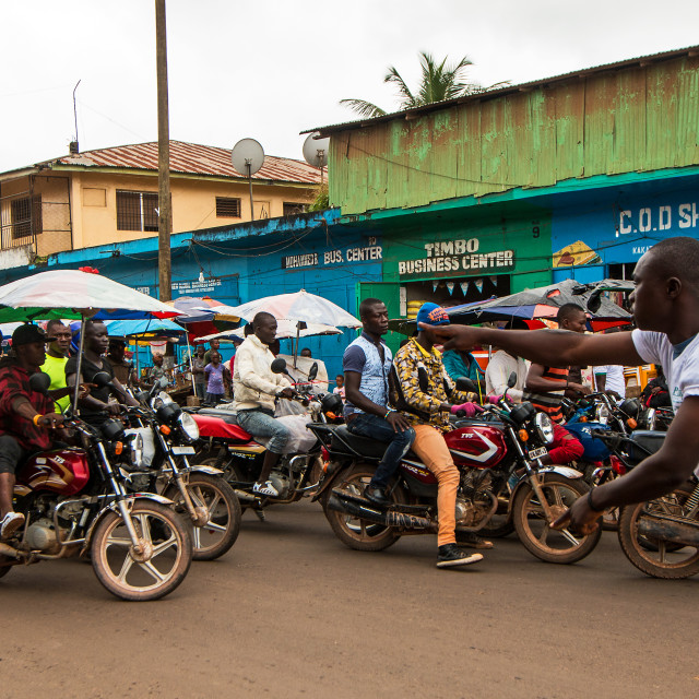 """Liberia Motorcyle Rally"" stock image"
