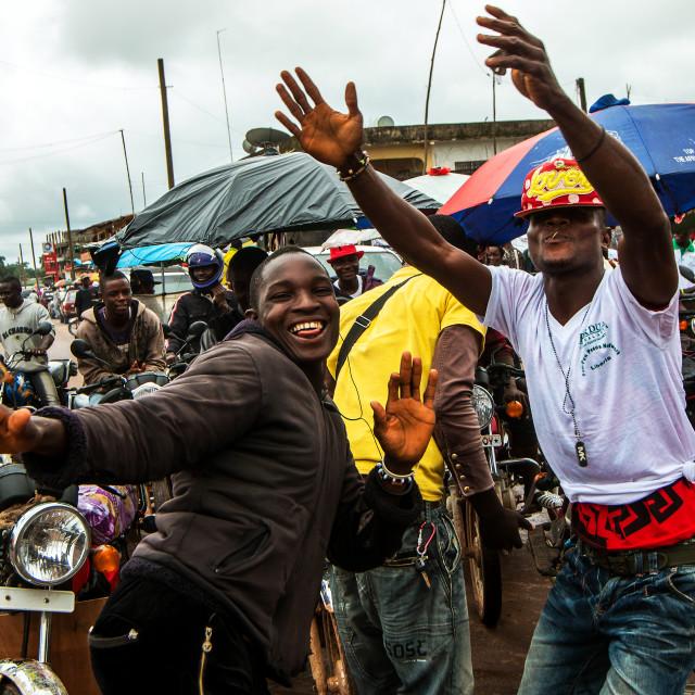 """""""Liberia Dancing"""" stock image"""