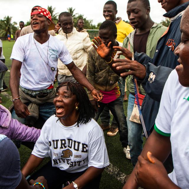 """Liberia Dance Party"" stock image"