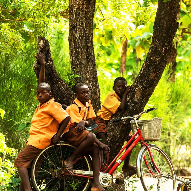 """""""Ghana School Children"""" stock image"""