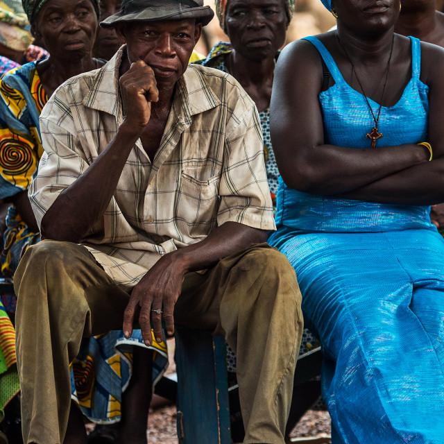 """Ghana Man Listening"" stock image"