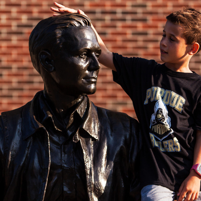 """Purdue Armstrong Statue"" stock image"
