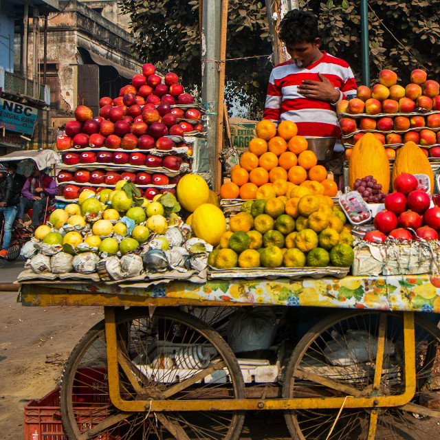 """New Delhi street vendor"" stock image"
