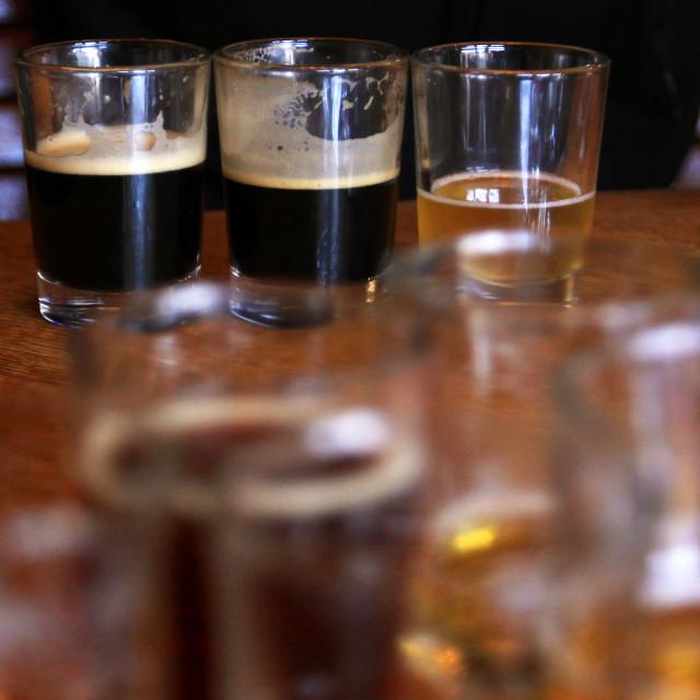 """Beer samples"" stock image"