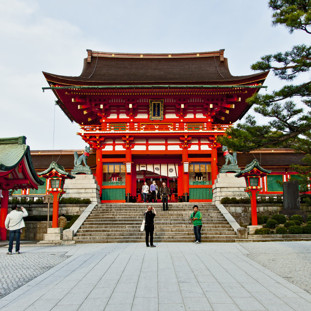 """Main Gate Fushimi Inari"" stock image"