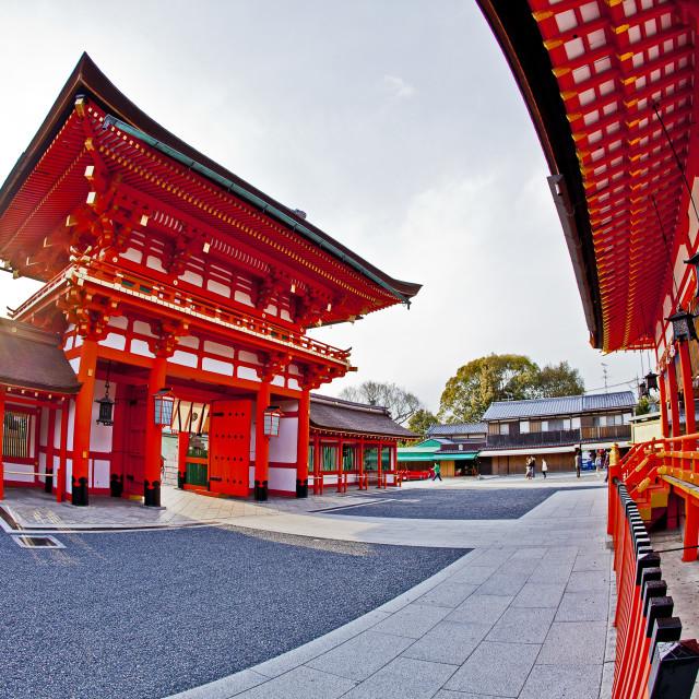 """""""Setting Sun Inari"""" stock image"""