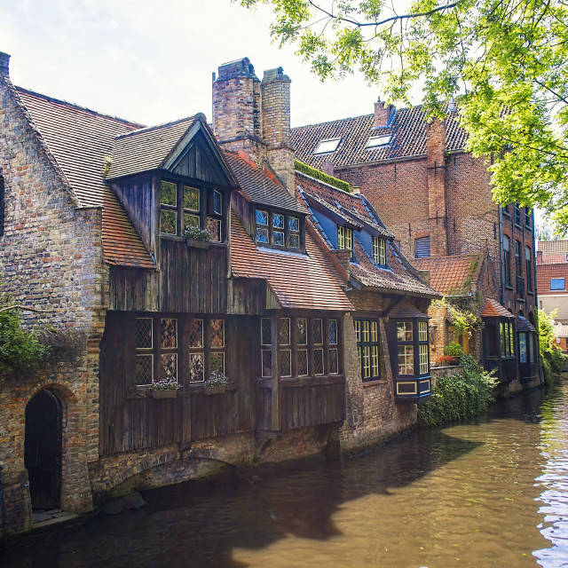 """The City of Bruges"" stock image"