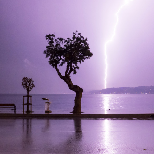 """Istanbul in Lightning"" stock image"