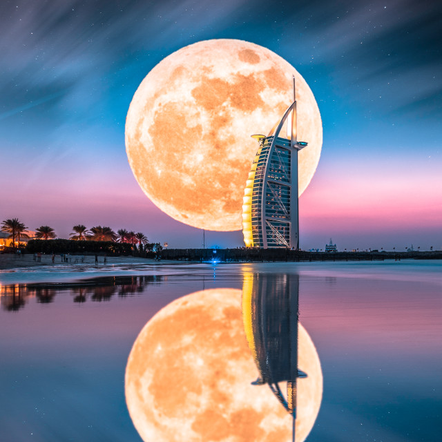 """Burj al Arab reflection"" stock image"