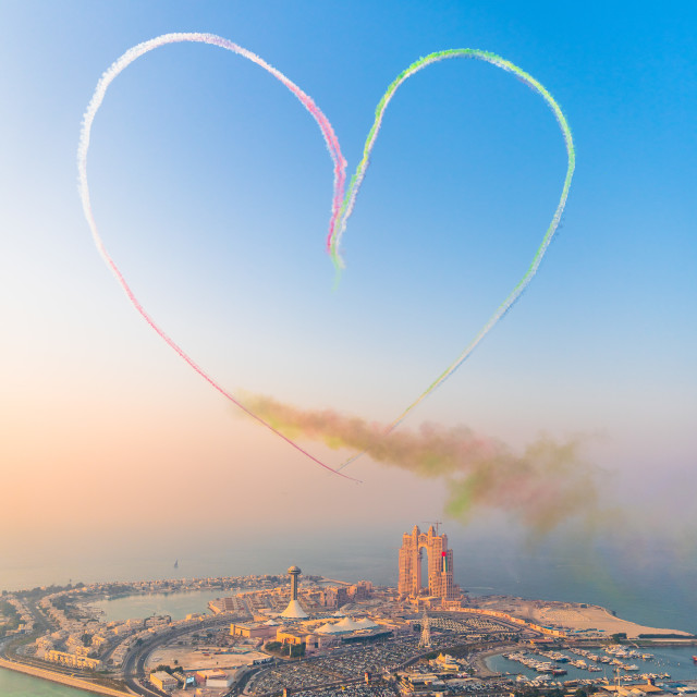 """Love in Abu Dhabi"" stock image"