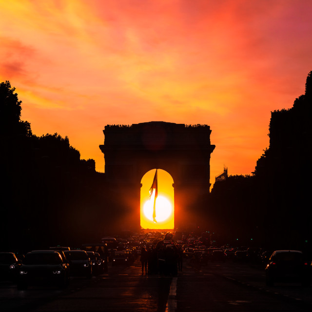 """Amazing sunset over Paris"" stock image"