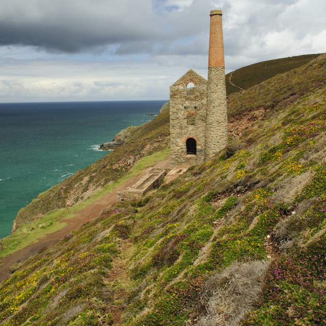 """Wheal Coates Mine, Cornwall"" stock image"