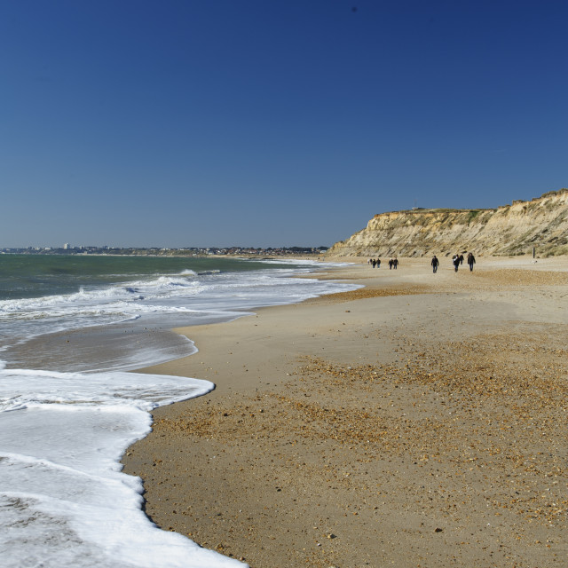 """Hengistbury Head Beach"" stock image"