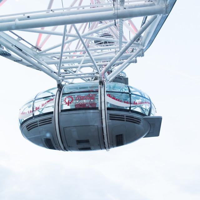 """""""London Eye: take off"""" stock image"""