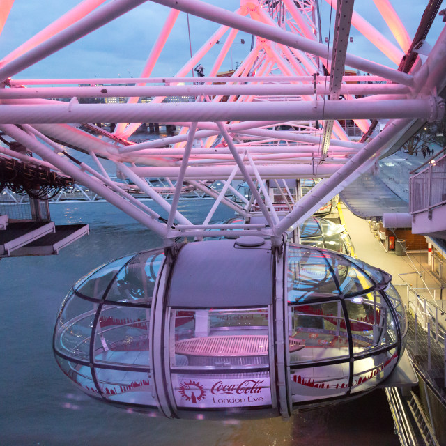 """""""London Eye: coming in to land"""" stock image"""