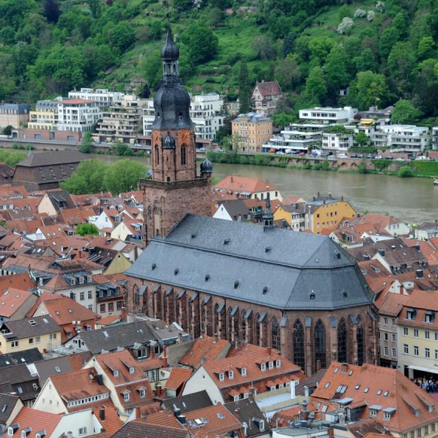 """""""Roof top veiw of Heidelberg"""" stock image"""