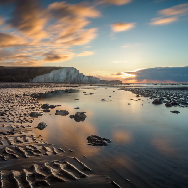 """Cuckmere Haven reflections"" stock image"