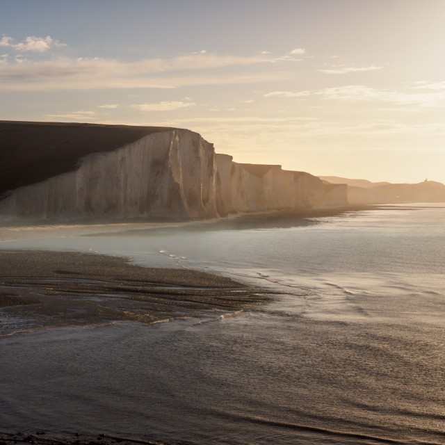 """Early morning at the Seven Sisters"" stock image"