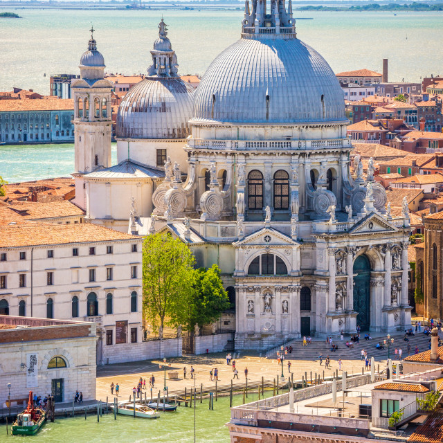 """""""Scenic view, Venice, Grand Canal and Basilica Santa Maria della"""" stock image"""