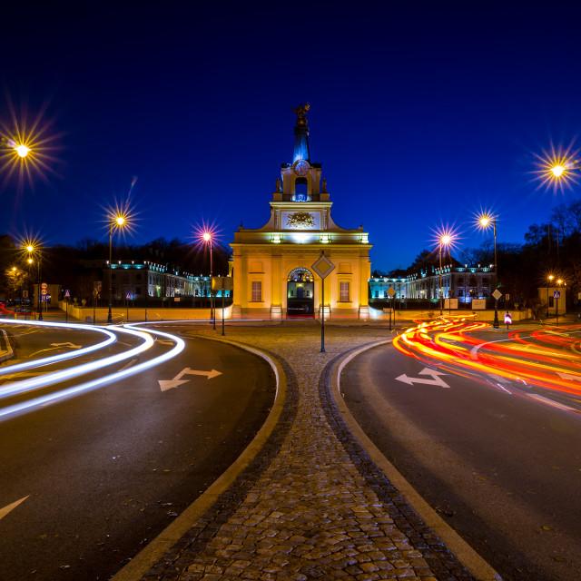 """Bialystok city at Night"" stock image"