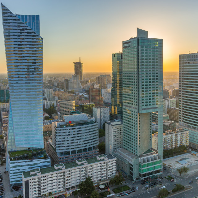 """City Center of Warsaw, Poland"" stock image"