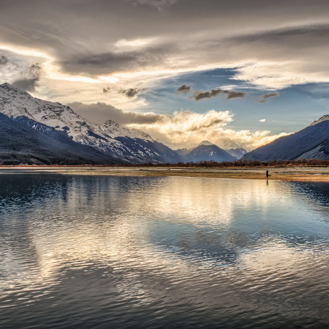 """Glenorchy Solitude"" stock image"