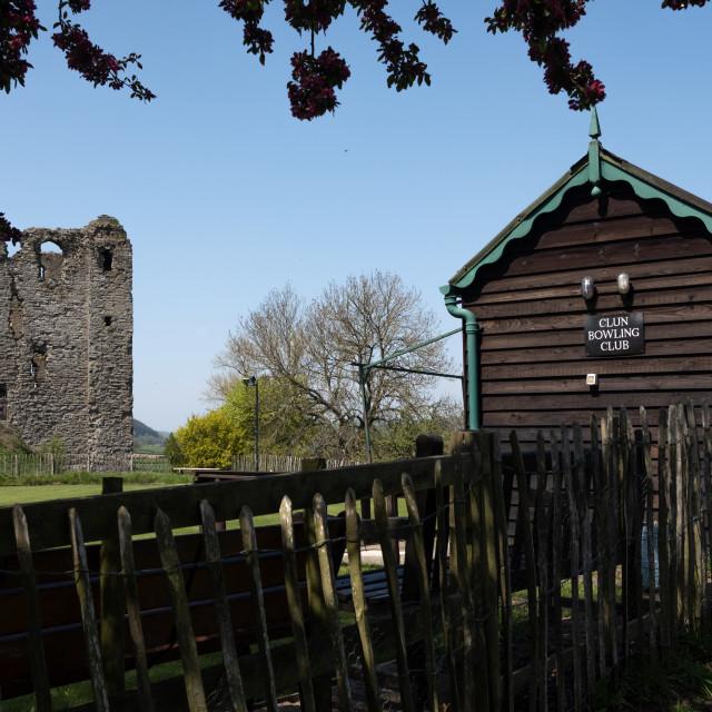 """Clun castle Shropshire 2018"" stock image"