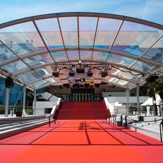 """""""Cannes Red Carpet"""" stock image"""