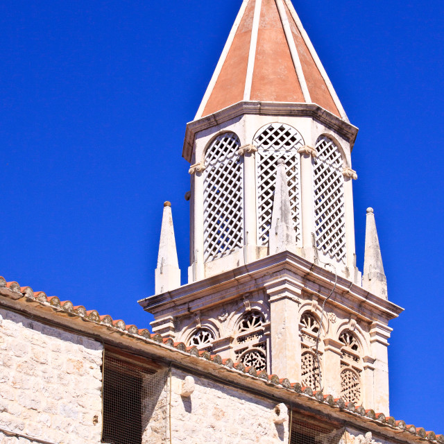 """Trogir old church tower - Croatia"" stock image"