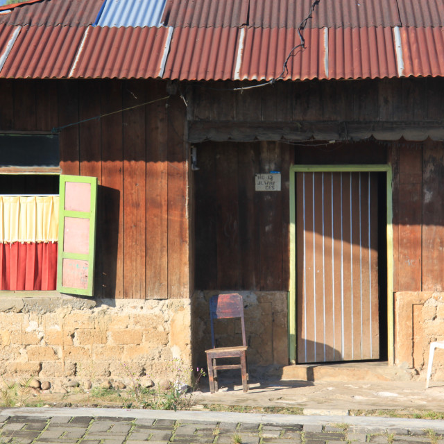 """""""House in Rutang, Flores, Indonesia,"""" stock image"""