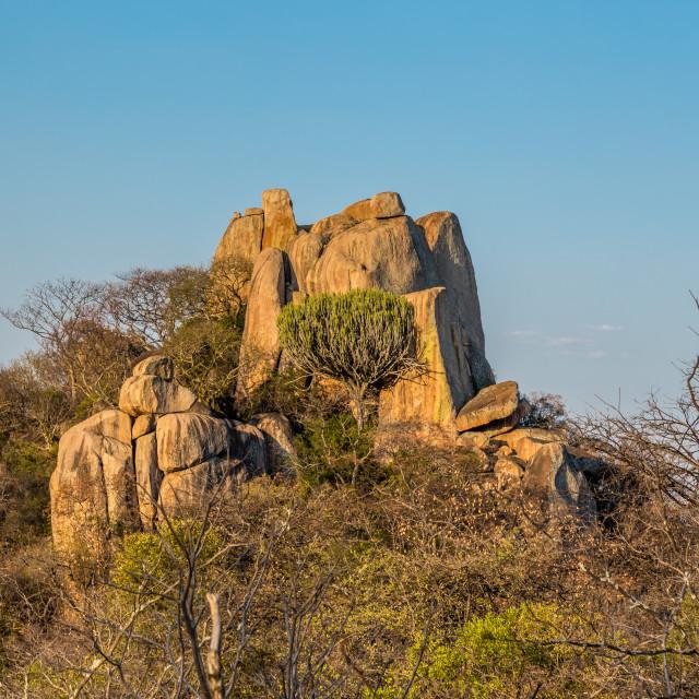 """""""Granite Rocks in Matobo National Park, Zimbabwe."""" stock image"""