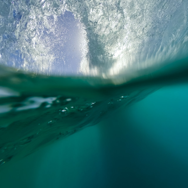"""""""into the wave"""" stock image"""