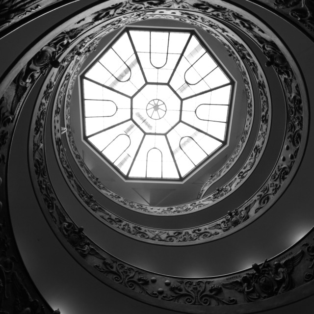 """Vatican City Staircase"" stock image"