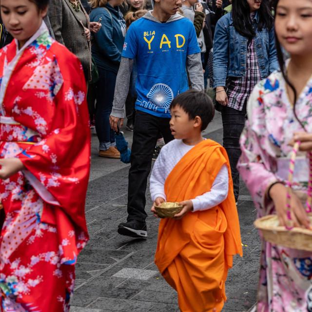 """Buddha Birthday Celebration London"" stock image"