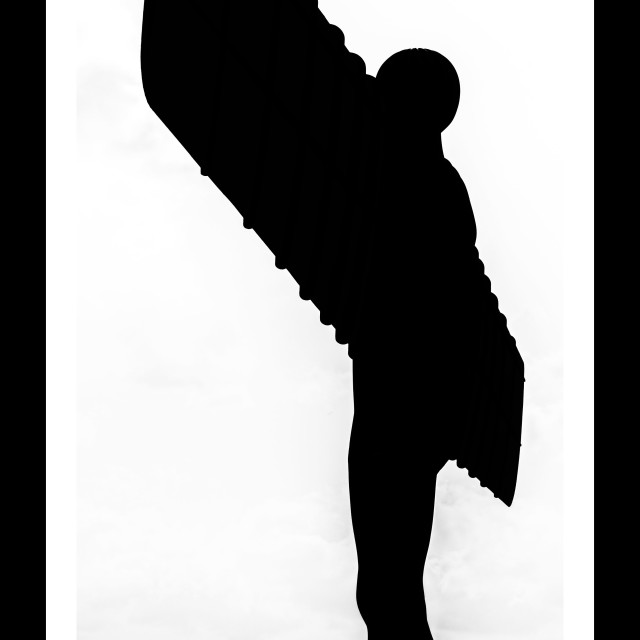 """Angel Silhouette"" stock image"