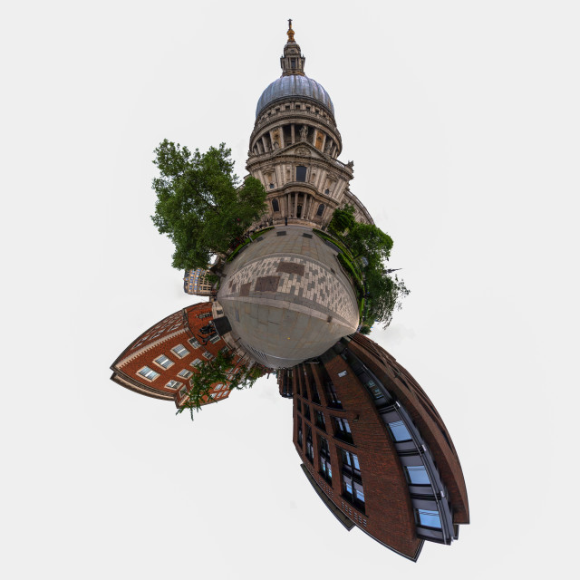 """St. Paul's Cathedral little planet"" stock image"