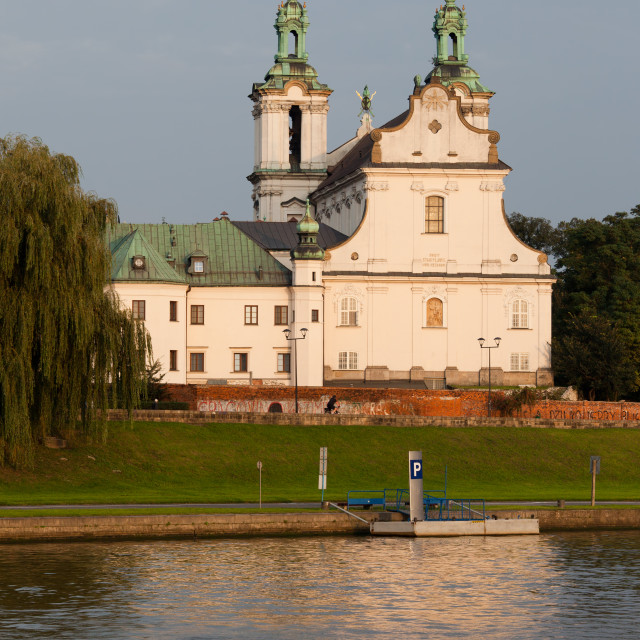 """Pauline Church on the Rock in Krakow"" stock image"