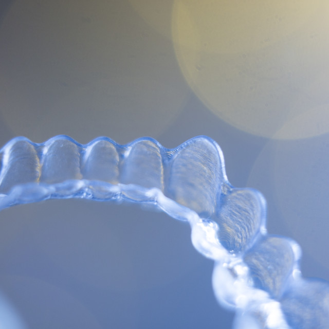 """""""Teeth aligners invisible retainers"""" stock image"""
