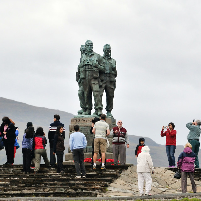 """""""Tourists at the Commando Memorial"""" stock image"""