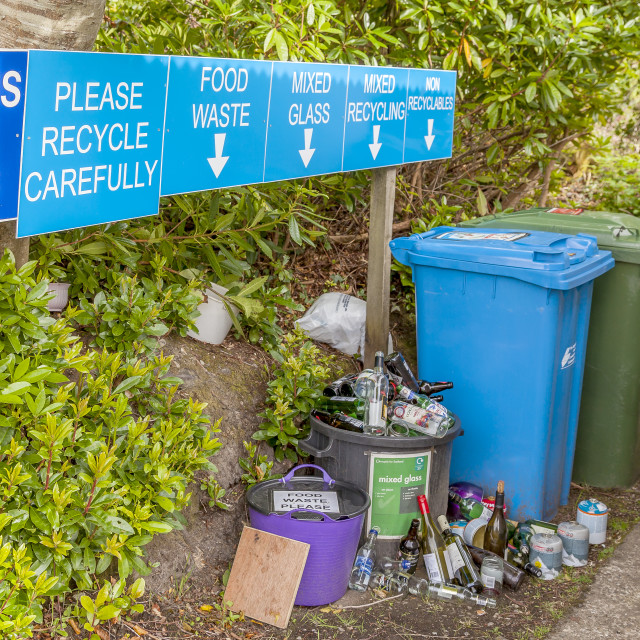 """""""Please Recycle Carefully"""" stock image"""