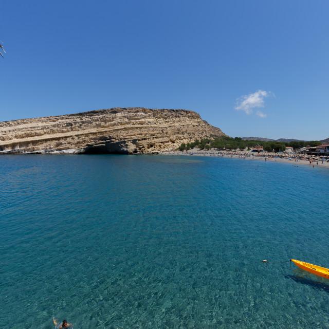 """Matala Beach, Crete, Greece"" stock image"
