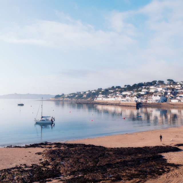 """Calm water at St. Mawes"" stock image"