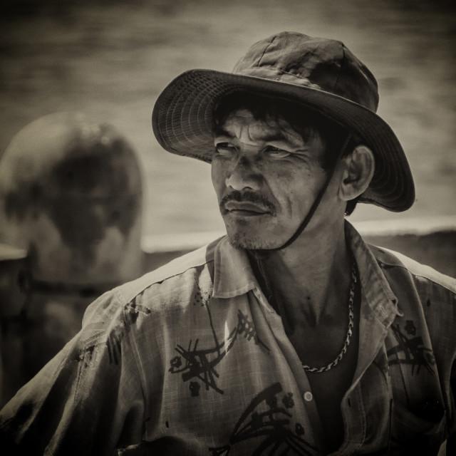 """Vietnamese Labourer: Home Coming - Nha Trang, Vietnam"" stock image"