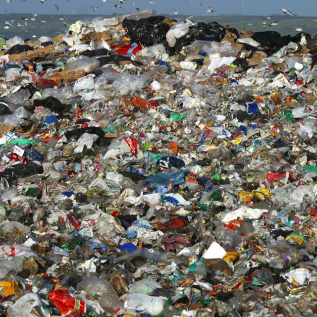 """Landfill Waste in Belfast"" stock image"