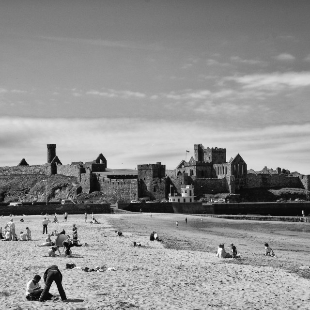 """Peel Castle"" stock image"